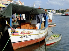 Venezuelan boats serve as the floating market in Punda