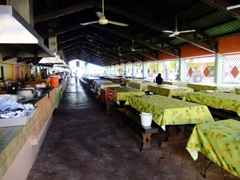 Willemstad's famous old food market, the Marsche Bieuw