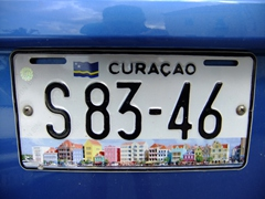 Curacao's pretty license plate