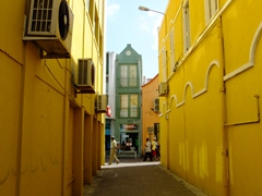 Check out the narrow building at the end of this alley...imagine living in a house that narrow?