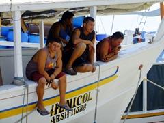 Bored Venezuelan fishermen; Punda