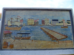 Punda wall mural (with floating Queen Emma bridge)