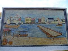 Punda wall mural (with floating Queen Emma bridge)
