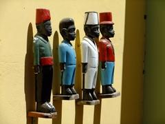 Wooden figures; Kura Hulanda Complex