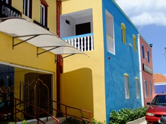 Colorful buildings in pretty Curaçao