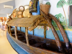 Makeshift raft; Kurá Hulanda Museum
