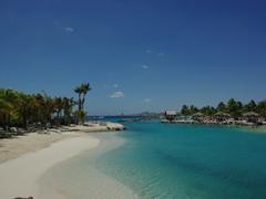 Gorgeous shades of Caribbean blue; Kon Tiki beach