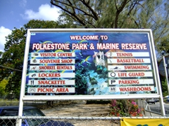 The Folkeston Park & Marine Reserve (close to Holetown on the west coast of Barbados)