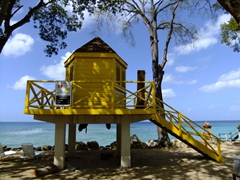 Lifeguard shack; Folkeston Marine Park