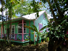 Colorful chattel house