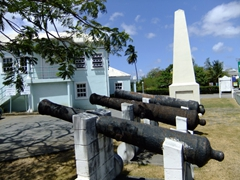 Cannons at the Holetown memorial (built on the site of what was the old James Fort, and some of the iron cannons are still in position)
