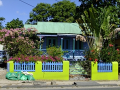 Love the Caribbean colors of this house