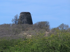 Remnants of an old Antiguan windmill; sugar plantation