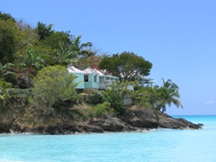 The honeymoon suite at one of Antigua's many romantic seaside hotels