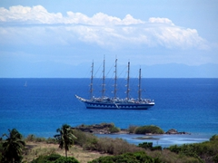 Magnificent sailing vessel; English Harbor