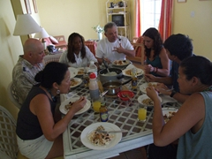 Lunch time with the family; Jolly Beach Harbor villa