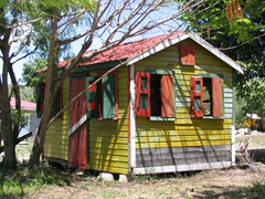We loved the colorful Caribbean cottages dotting the Antiguan countryside