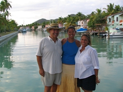 Joe, Becky & Judy at Jolly Beach Harbor Villas
