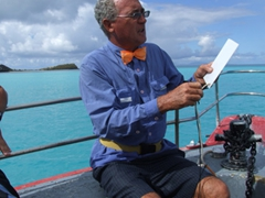 Our friendly Jolly Beach Dive Master (check out his bow tie!)