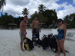 Robby, Luke & Ann after a great day of diving