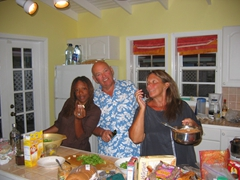 Patrica, Joe & Judy creating another gourmet meal