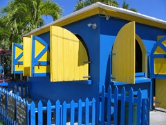 One of many colorful shacks seen all over Antigua
