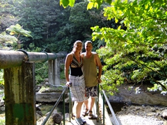 Posing on our short hike to Titou Gorge