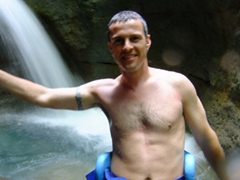Robby strikes a pose inside Titou Gorge