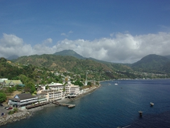 View of Dominica (as seen from the top deck of our cruise ship)