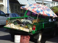 Pickup fruit and vegetable stand; Roseau