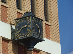 This old Roseau clock has two faces, neither of which keeps the correct time
