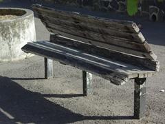 Bizarre shaped bench; Roseau