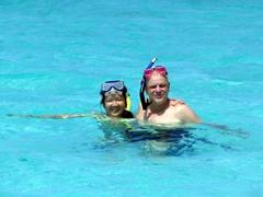 Ann & Bob taking a break from snorkeling