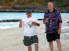 Bubba & Bob hang loose with some rum punch