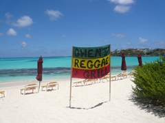 Gwen's Reggae Grill is the place to chill with a beer or two; Shoal Bay East