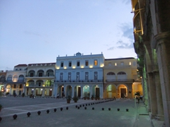 Dusk view of Plaza Vieja