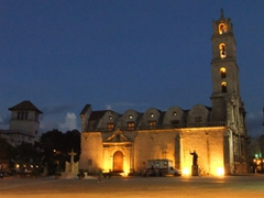Night view of Iglesia y Convento de San Francisco de Asis; Plaza de San Francisco
