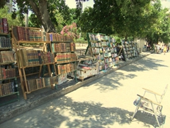 Plenty of antique books for sale; Plaza de Armas