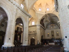 Interior view of the old cathedral on Plaza de la Cathedral