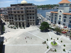 Bird's eye view of Plaza de San Francisco