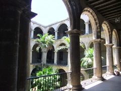 Interior courtyard of Iglesia y Convento de San Francisco de Asis