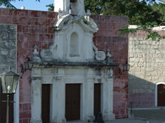Old church embedded in El Morro's walls