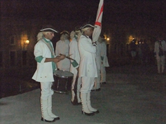 The canonazo ceremony is popular with tourists and locals alike who swarm to watch as soldiers fire a cannon towards Havana at dusk each night; Parque Historico Militar Morro