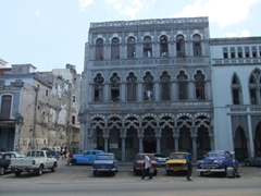 Havana is filled with eclectic, architectural delights. This building looks Moorish in design