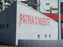 """Patria o muerte"" (Country or Death) slogan; Anti-Imperialist Plaza"