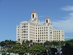 The Hotel National de Cuba has a commanding view of the malecon