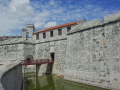 A moat surrounds Castillo de la Real Fuerza