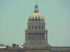 The Cuban flag flies proudly at the Capitol
