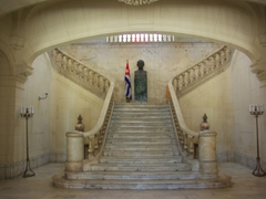 Marble staircase at the Museum of the Revolution