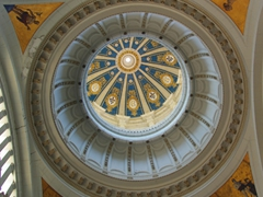 Interior dome of the Museum of the Revolution